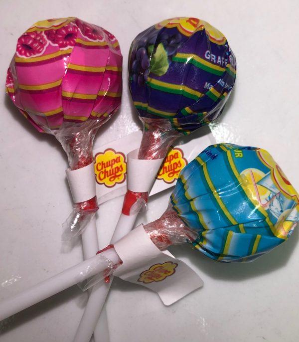 Three chupa chups lollipop